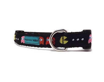 "Pacman - Dog Collar | 3/4"" width for Small to Medium Dogs"