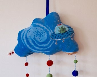 Outer Space Hanging Cloud Mobile