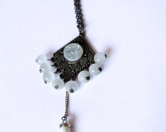 """SABERTOOTH"" White Talisman necklace"