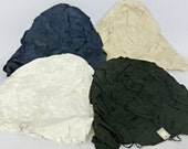 Vintage NOS Ribbon and Straw Italian Millinery Body Hood  - Choose Beige, Black, White, or Navy- 1950s