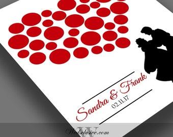 Snow White Guest Book Alternative, Disney Wedding Gift, Disney Theme Weddings, Bride and Groom Gift -11x14, 16x20, 20x24, 24x36