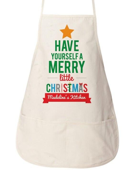 Items similar to personalized christmas apron custom