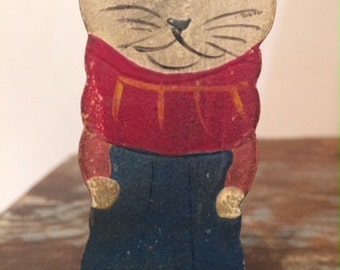 Antique Cat Squeak Toy