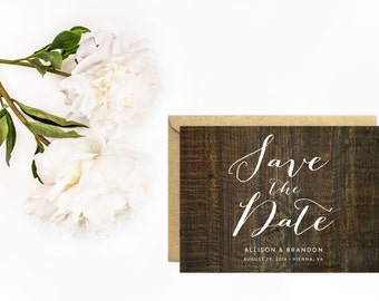 Save The Date, Wood Save The Date, Rustic Wedding, Rustic Wood Save The Date