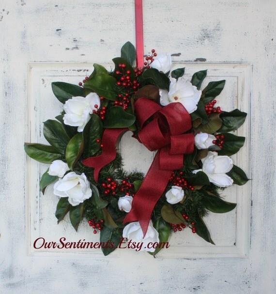 Door Wreath Evergreen Wreath For Door Christmas By