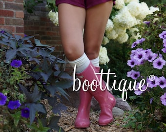 CLOSEOUT!  Hunter Boot Socks: Luxe Legs™ Cable Knit Thigh-Highs, Cream Over-the-Knee, Quality Boot Socks, Boot Thigh Highs