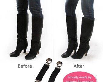 "Boot Snugs: 3"" Length Black Pant Clips, Pant Straps, Boot Straps, Stirrups- Keep Pants Jeans Snug in Your Boots"