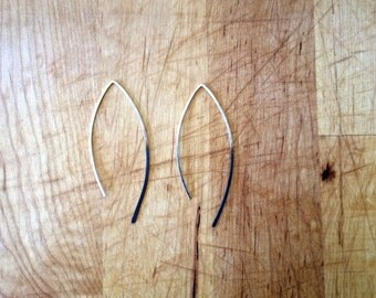 Oxidized Silver Hook Earrings