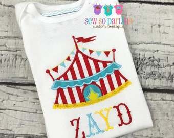 Baby Boy Circus Shirt - Circus Birthday Shirt - Baby Boy Circus Outfit - Big Top shirt - Carnival shirt for boys - Circus tent shirt boy