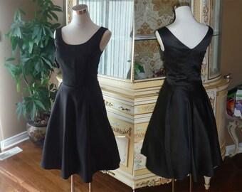 1950 dress, black bridesmaid dress, party dress, 50s dress - Plus size available