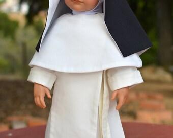 "Norbertine Nun Habit,  18"" Catholic Doll Clothes"