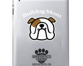 BULLDOG Mom & Bulldog Dad -  English Bulldog vinyl decal car sticker - perfect gift for the fur parents!  #bullylove