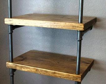 Industrial Media Stand - Pipe Shelving Unit - Media storage - Industrial Furniture - Industrial bookshelf - Bookcase - Media shelf - Storage