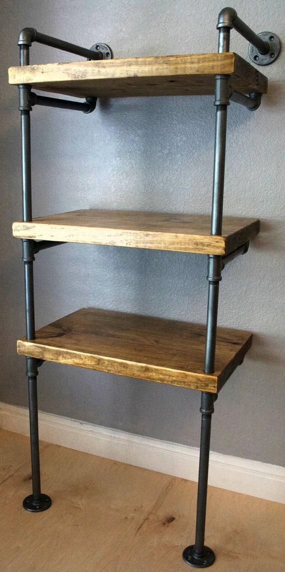 industrial media stand pipe shelving unit media storage. Black Bedroom Furniture Sets. Home Design Ideas