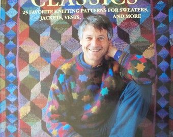 Kaffe's Classics by Kaffe Fassett ~ Knitting Pattern Book ~ Sweaters Jackets Vests ~ Hardcover
