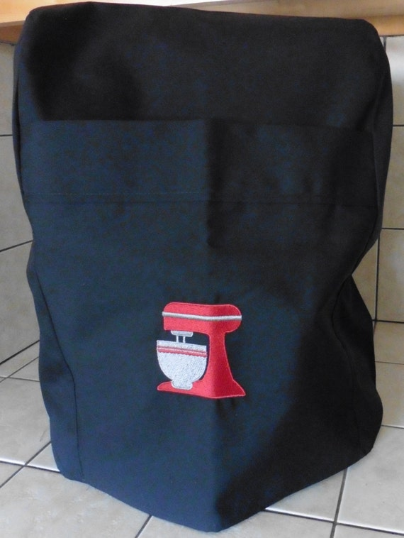 600 Professional Kitchenaid Mixer Cover Black With Embrioded
