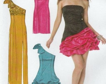McCall's M6283 Sewing Pattern, Misses Formal and Evening Dresses with Empire Waist, Lined, Multi-Size 6, 8, 10, 12, Create It Pattern, Uncut