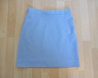 Original Vintage 60s Mini Skirt UK 12 Light Blue Mod/Scooter Medium