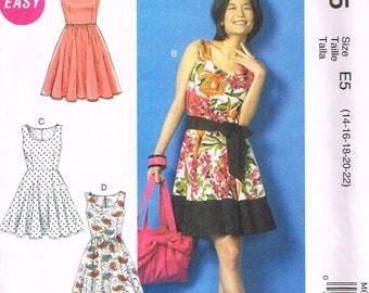 McCall's M6955, Sewing Pattern, Women's Dresses by Laura Ashley, Size 14, 6, 18, 20, 22