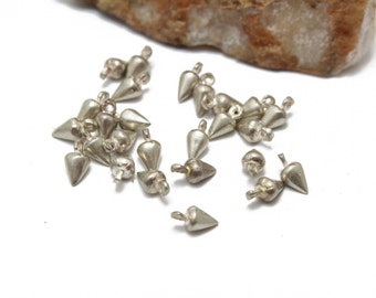 Pointy Charms Stelring Silver 925 Small Charms 5x9mm 6pcs