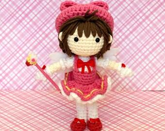 Cardcaptor Sakura Amigurumi Doll (Crochet Pattern Only, Digital Download), Cardcaptors, Tomoyo Battle Outfit, Kinomoto, Clow Card