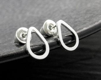Drop earrings silver