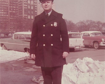 """1960's Chicago Police Officer Occupational 5"""" x 7"""" Photo - Free Shipping"""
