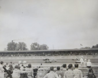 Original 1938 Indianapolis Race Start Snapshot Photo - Free Shipping