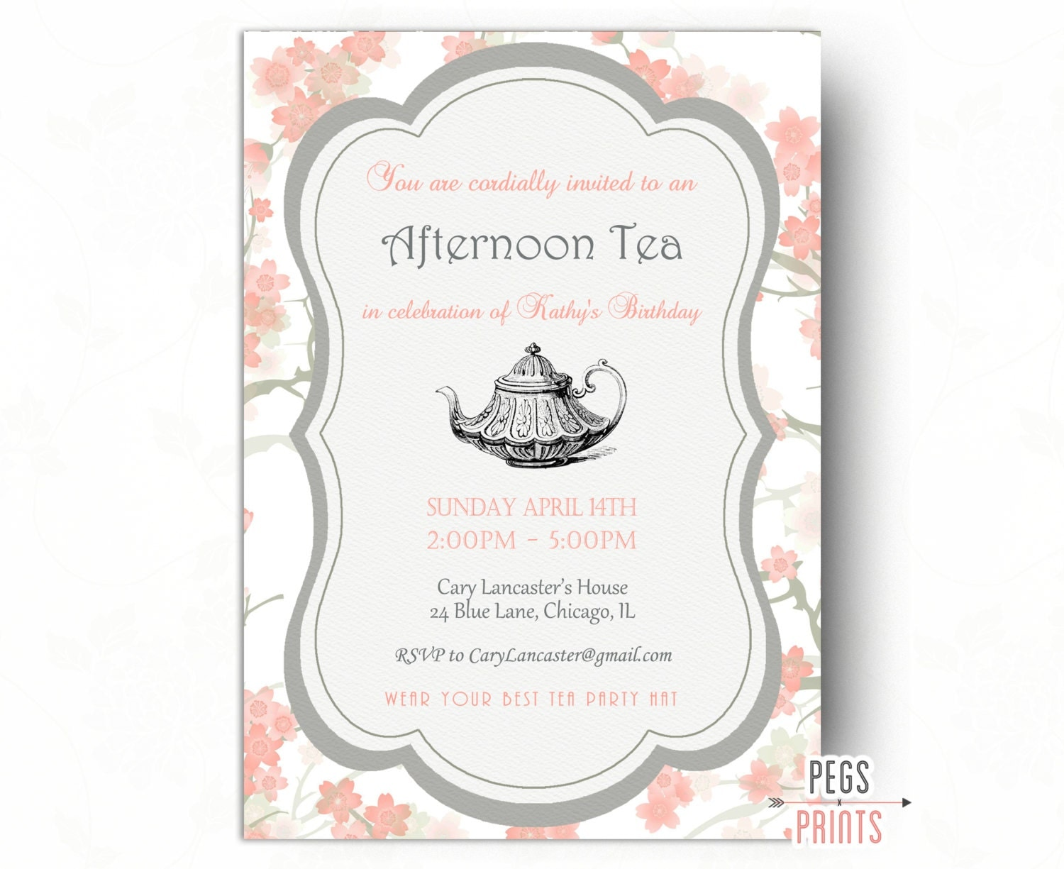 morning tea invitation template free - birthday tea party invitation tea party birthday invitation