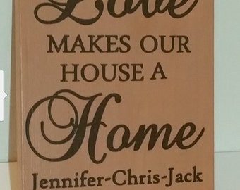 Personalized New Home Sign