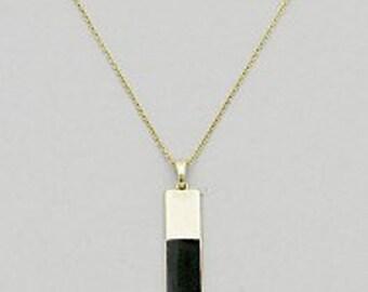 Simple Black Bar Necklace, Minimalist Necklace, Black Bar Necklace, Bar Necklace, Simple Necklace