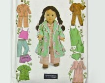 American Girl Doll Clothes Patterns Simplicity 5276 18 Inch Doll Pattern OOP UNCUT American Girl Sewing Pattern Doll Wardrobe Pattern