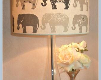 Elephant Parade Grey Handmade Lampshade / Light Fitting FREE UK DELIVERY