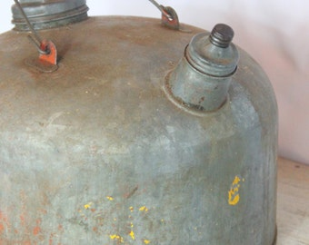 Old Metal Industrial Gas Can - Made in USA, Gas Station, Fuel Can, Man Cave, Gift for Him, Urban Farmhouse, (WTH-601)