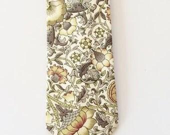 Fall men's tie, lodden, liberty of london, custom green tie, green men's necktie, light green necktie, groomsmen bow tie, floral liberty
