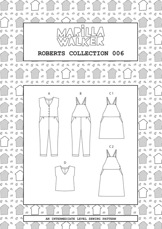 PDF Roberts collection sewing/dress making pattern