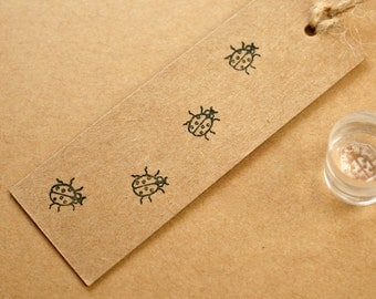 Ladybird - Ladybird Stamp - Actual size ladybird - Gift Wrap Tags - Ladybug - Tiny Ladybird Stamp - Crystal-Clear Stamp - Little Stamp Store