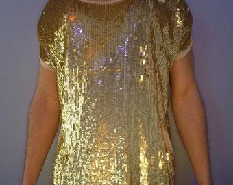 Vintage Disco Gold Top / Pockets