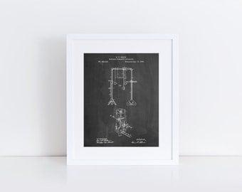 Portable Gymnastic Bars 1890 Patent Poster, Gymnast Gift, Gymnastics Printable, Vintage Sports Decor, Coach Gift, PP0664