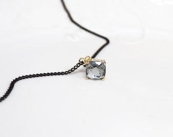 Black Choker,crystal choker, chain choker, black chain choker , gray choker, Simple Choker, choker necklace,  Bridesmaid Gift, glass stone