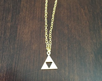 Legend of Zelda Triforce Necklace, Zelda Necklace, Zelda, Necklace, Gold Necklace, Small Zelda Necklace, Small Necklace