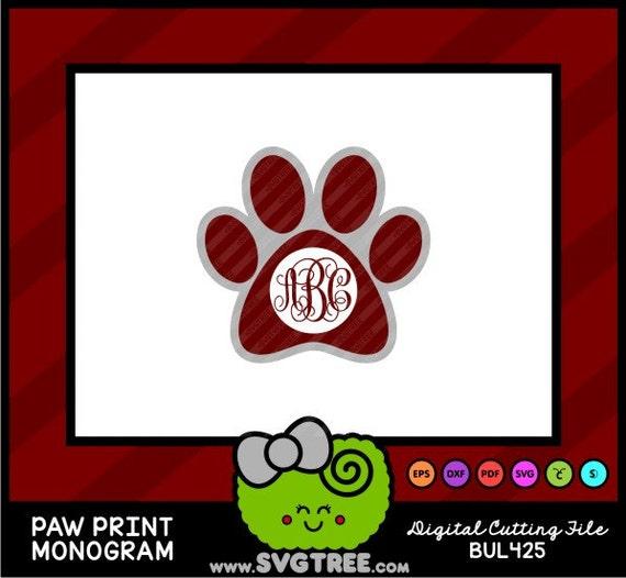 Download Bulldogs, Monogram, Dog Monogram, Paw Print, SVG Files ...