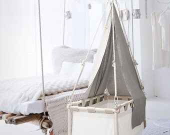 Cradle - hanging baby crib. For day and night. Now for only USD 244,- on www.hussh-cradles.com