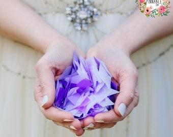 Eco Friendly Wedding Confetti, large, hand cut pieces. 60 Handfulls