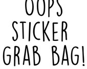 12 sheets oops sticker grab bag; planner stickers; Sticker Pack; Filofaxing; Erin Condren; Cute Stickers; Inkwell Press;Kawaii Stickers