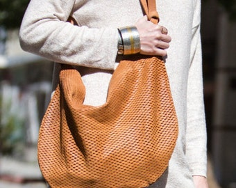SALE: Brown leather tote