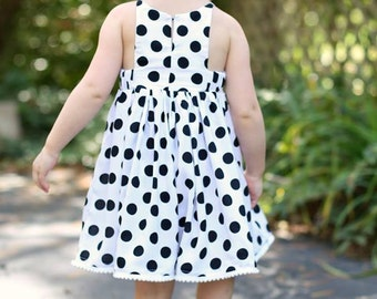 Baby Hourglass Dress - girls' summer dress - PDF pattern - sizes NB to 3 years