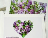 MOTHER'S DAY Greeting Card created and produced by Pam Ponsart of Pam's Fab Photos featuring a photo of the fragrant Lilac bush