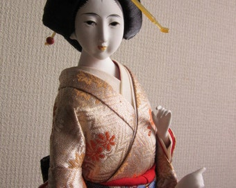 SALE!!! A Japanese doll, geisha girl, dancing girl in kimono, vintage