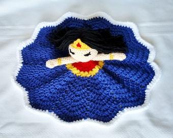 Wonder Woman Inspired Lovey/Security Blanket